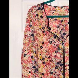 ModCloth Floral Blouse-Size 1X